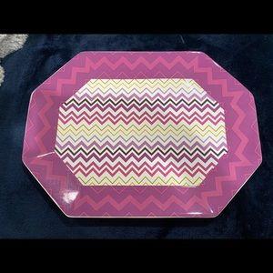 MISSONI Target Octagon Passione Ceramic Platter